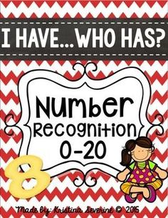 FREE I Have, Who Has- Number Recognition by Sweet for Kindergarten- Kristina Harrill Teaching Numbers, Numbers Kindergarten, Numbers Preschool, Math Numbers, Preschool Math, Math Classroom, Kindergarten Classroom, Teaching Math, Math Activities