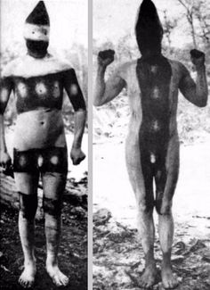 The Lost Tribes of Tierra del Fuego: Rare and Haunting Photos of Selk'nam People Posing With Their Traditional Body-Painting ~ vintage everyday Tribes Of The World, People Of The World, Patagonia, Melbourne Museum, Brave, Pagan Festivals, Jungle Life, Haunting Photos, People Poses