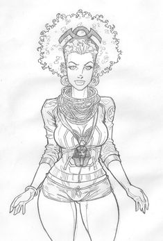 Storm has always been my favorite X-man and I LOVE this fan art of her with a fro. LOVE!  (by Apexabyss on Deviantart)