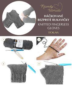 Fingerless Gloves Knitted, Arm Warmers, Tutorials, Crochet, Ganchillo, Crocheting, Knits, Chrochet, Quilts