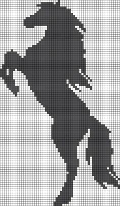 Alpha pattern 15445 - Her Crochet Cross Stitch Horse, Cross Stitch Animals, Filet Crochet Charts, Knitting Charts, Cross Stitch Designs, Cross Stitch Patterns, Cross Stitching, Cross Stitch Embroidery, Cross Stitch Silhouette