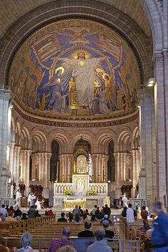 Basilica of the Sacre Coeur, Paris, France by Didier B. Montmartre Paris, Sacred Architecture, Church Architecture, Religious Architecture, Paris Travel, France Travel, Paris France, Beautiful Paris, Ville France