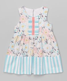 Look at this Blue & Pink Floral Leah Dress - Infant & Toddler on #zulily today!