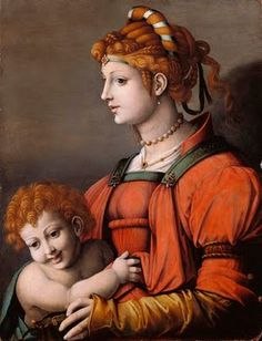 Portrait of a Woman and Child, Francesco Bacchiacca, 1525-35