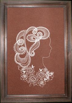 Дамы Bobbin Lace Patterns, Lacemaking, Paper Quilling, String Art, Antique Dolls, Tatting, Projects To Try, Frame, Crafts