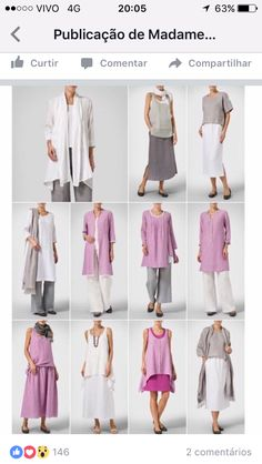Vivid Linen discover a new world of comfort and style in linen clothing. Casual Outfits, Cute Outfits, Fashion Outfits, Womens Fashion, Vetements Clothing, Mode Hijab, Linen Dresses, Mode Style, Sewing Clothes
