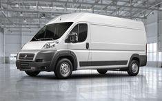 Download wallpapers Fiat Ducato Cargo Longo, 4k, 2018 cars, minibus, new Ducato, cargo transport, Fiat