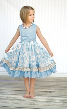 66962a3c25df Girls Easter Dress The April Dress Size 1 2345 by KinderKouture, $60.00  Little Girl Outfits