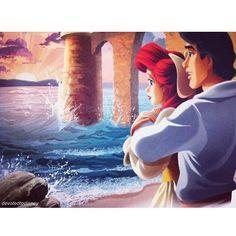 Vi do il buongiorno con questa foto super romantica di me e del mio amore, guardando verso l'orizzonte.. Sorridete sempre amici, la vita è bella.. Non perdete mai la speranza. Buongiorno piccoli amici #Ariel