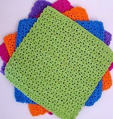 Perfect quick knit come and see are wide selection of cotton yarns perfect for this project. Ravelry: JustRight and BigTime Dishcloths pattern by Deborah Ellis Crochet Hot Pads, Crochet Towel, Crochet Gifts, Free Crochet, Irish Crochet, Easy Crochet Patterns, Crochet Ideas, Crochet Projects, Cloth Patterns