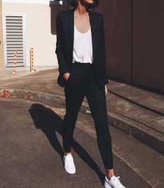 Black pants with blazer