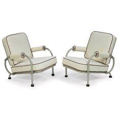 Warren McArthur lounge chairs, 1930s