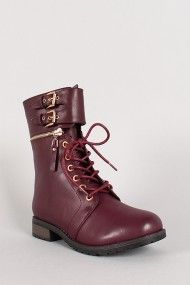 Bamboo Battle-25 Buckle Cuff Military Lace Up Boot #urbanog
