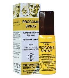 Procomil – Spray que ayuda a retadar la eyaculación y pueda disfrutar de sus relaciones sexuales durante más tiempo.
