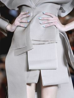 Minimal chic with layered & folded fabric strip construct; fashion details // Vivienne Westwood