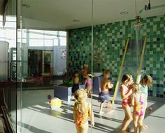 An entire water play room in a child care center!!