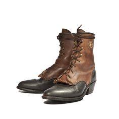 Vintage Aztec Lacer Ankle Boot Lace Up Roper