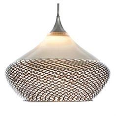 Wide Drop Reticello Glass Pendant Light, $1190 on www.artisancraftedlighting.com