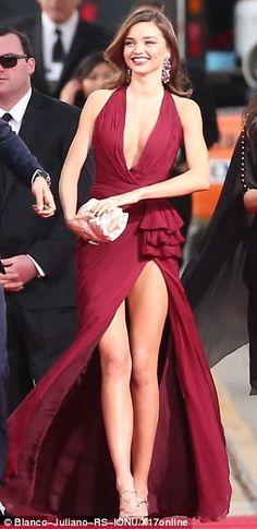 Miranda Kerr rocks the red carpet in a vibrant Zuhair Murad dress