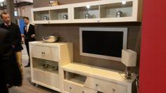 Muebles para #salon #moderno en color blanco. #mueblesarria