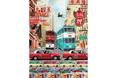 'Hong Kong Taxi' by Louise Hill.