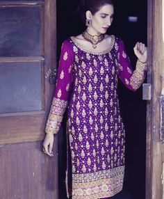 Mifrah - purple kameez, perfect mehndi outfit !