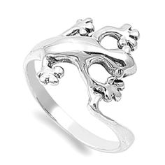 Lizard Rings Sterling Silver 925 Best Price Plain Jewelry Gift Selectable #Handmade #Plain-$15.71