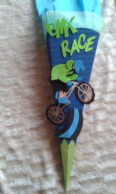 Schultüten - Schultüte BastelSet BMX RACE od. fertig gebastelt  - ein Designerstück von kreativ-was-sonst bei DaWanda