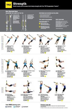TRX Strength Poster | TRX Exercise Poster | Wicked Fitness: