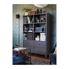 IKEA - BRYGGJA, Storage unit, dark grey, Smooth running drawers with pull-out stop. Perfect for clothes and shoes. Use fixing devices suitable for the walls in your home, sold separately. Free Standing Wardrobe, Dark Grey Kitchen, Condo Decorating, Display Homes, Drawer Fronts, Home Decor Items, Home Furniture, Living Spaces, Lineup
