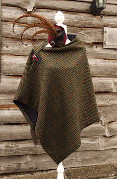 Harris Tweed Houndstooth Wrap