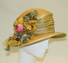 Hollander Hat - c. 1912 - by L.P. Hollander  Co., New York - Straw, silk - The Metropolitan Museum of Art - @~ Mlle