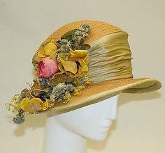 Hollander Hat - c. 1912 - by L.P. Hollander & Co., New York - Straw, silk - The Metropolitan Museum of Art
