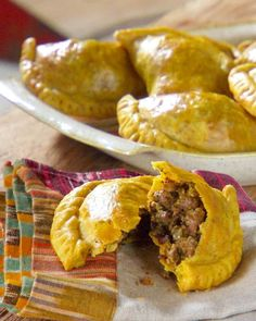 """Beef Patties  Uncooked patties can be stored in the freezer and go straight into the oven when ready to use; they bake in just 15 minutes. From the book """"Lucinda's Authentic Jamaican Kitchen,"""" by Lucinda Scala Quinn (Wiley)"""