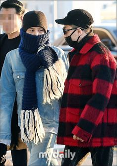 161202 G-Dragon & Taeyang at Gimpo Airport going to Nagoya