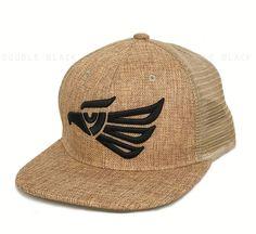 186a70aea55 Mexican Eagle Hat MEXICO Snapback Straw Woven Mesh Trucker Baseball Cap Tan  Sand