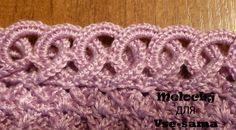 Crochet Rings Edge - Photo Tutorial
