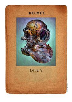 Pop Art Steampunk Diver's Helmet Art Print by paulstickland Cursed Child Book, Online Gifts, Pop Art, Steampunk, Helmet, Harry Potter, Art Prints, Unique, Art Impressions