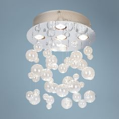 "Possini Euro Bubbles 13 3/4"" Wide Ceiling Light Fixture 