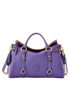 I love this but not in purple.Maple and West Dooney & Bourke Large Florentine Satchel - Lavender Tote Handbags, Purses And Handbags, Purple Handbags, Satchel Purse, Crossbody Bag, Leather Tassel, Dooney Bourke, My Bags, Handbag Accessories