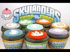 Skylanders Cupcakes! How to Make Skylanders SWAP Force Elements Cupcakes with FREE Party Pack!