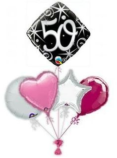 50th Elegant Sparkle Balloon King Birthday Balloons