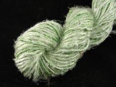 Banana silk yarn art silk yarn vegan pistachio by amberthreads, $7.00