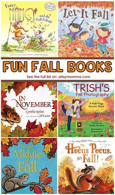 Fun Fall Picture Books for Kids including Board Books - Artsy Momma Best Children Books, Toddler Books, Childrens Books, Baby Books, Children Play, Future Children, Young Children, Autumn Activities For Kids, Kids Learning Activities