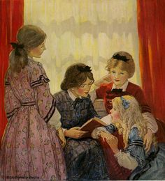 """Little Women"" illustration by Jessie Willcox Smith"