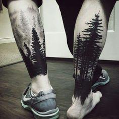 Tree Sleeve Tattoo Designs For Men - Ink Ideas With Branches Lower Leg Tree Sleeve Mens Tattoos With Black Ink MoreLower Leg Tree Sleeve Mens Tattoos With Black Ink . Tree Leg Tattoo, Calf Tattoo Men, Tree Sleeve Tattoo, Tattoo Henna, Best Sleeve Tattoos, Henna Tattoo Designs, Tattoo Sleeve Designs, Hand Tattoos, Mens Leg Tattoo