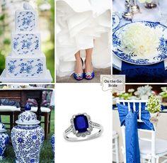 Blue and white wedding inspiration