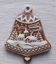 Today we are looking at Moravian and Bohemian gingerbread designs from the Czech Republic. Back home, gingerbread is eaten year round and beautifully decorated cookies are given on all occasions. Fancy Cookies, Cute Cookies, Holiday Cookies, Cupcake Cookies, Christmas Goodies, Christmas Treats, Christmas Baking, Christmas Gingerbread House, Gingerbread Cookies