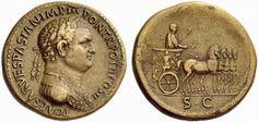 RI14 An Excessively Rare and Magnificent Roman Orichalcum Sestertius of Titus…