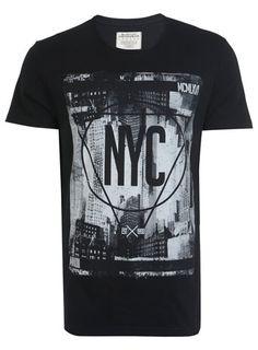 Black NYC Printed T-Shirt